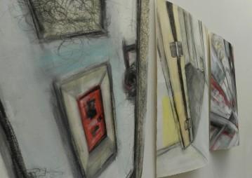 Surreal Doors, REASSURANCES exhibit, Cedar Crest College, 2014.