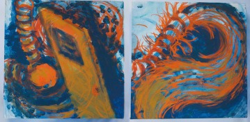 Space-in-Between diptych, 2015