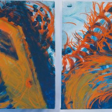 Space-in-Between diptych, 2015