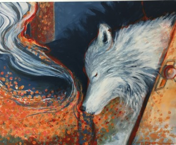 Curious Wolf, for Avery, Space-in-Between Series, 2015