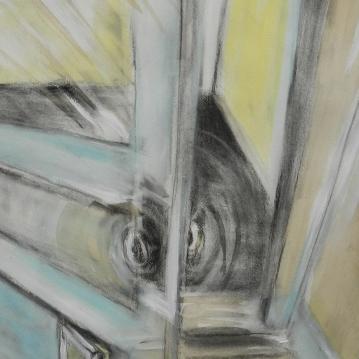 Surreal Door Within Door, gouache & mixed-medium, 2014.