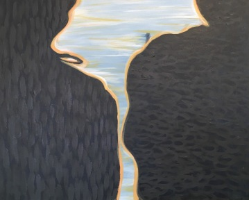 "Between Us & Morning Light, 2016, acrylic paint, 30"" x 24"""