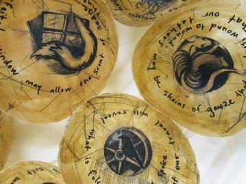 Litany Bowls, REASSURANCES, Cedar Crest College, 2014.