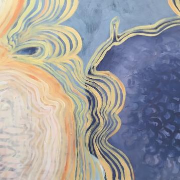 """Between Warmth & Summer Quiet, 2016, acrylic paint, 30"""" x 24"""""""
